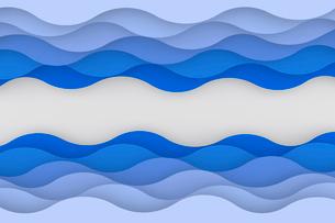 重なる曲線の波模様 CGのイラスト素材 [FYI03450131]