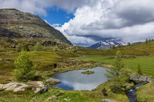 スイス、シンプロン峠の風景の写真素材 [FYI03450374]