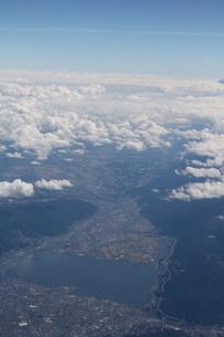 諏訪湖の写真素材 [FYI03450440]