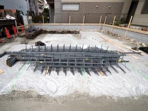 住宅の基礎工事 鉄筋の写真素材 [FYI03450809]