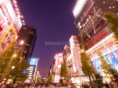 夕暮れの秋葉原電気街の写真素材 [FYI03450915]