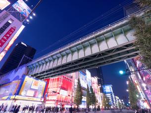 夕暮れの秋葉原電気街の写真素材 [FYI03450921]