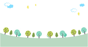 緑の散歩道 イラストのイラスト素材 [FYI03450943]
