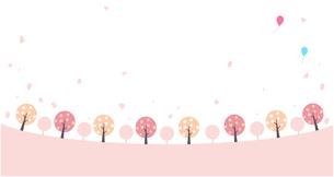 桜 散歩道 イラストのイラスト素材 [FYI03450945]