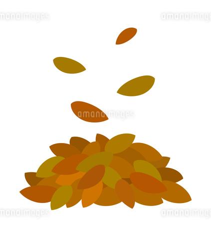枯れ葉の山のイラスト素材 [FYI03451011]