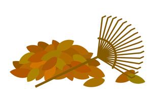 枯れ葉集めのイラスト素材 [FYI03451012]