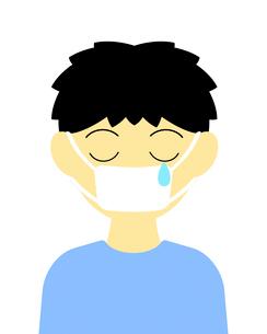 マスクをしている男性のイラスト素材 [FYI03451026]