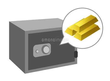 金塊の入った金庫のイラスト素材 [FYI03451032]