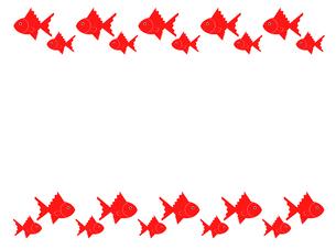 金魚のフレームのイラスト素材 [FYI03451080]
