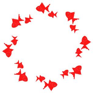 金魚のフレームのイラスト素材 [FYI03451084]