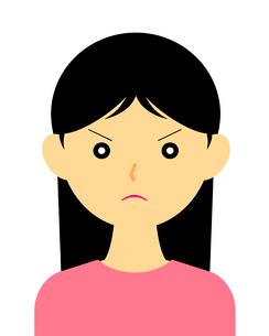 怒っている女性のイラスト素材 [FYI03451091]