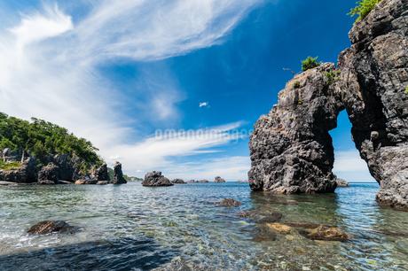 夏の青海島風景の写真素材 [FYI03451131]