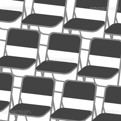 並んだパイプ椅子のイラスト素材 [FYI03451177]