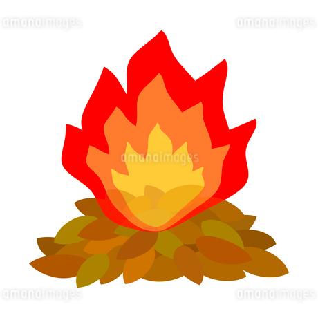 焚き火のイラスト素材 [FYI03451179]