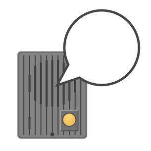 インターホンと吹き出しのイラスト素材 [FYI03451202]