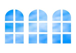 三つの窓のイラスト素材 [FYI03451205]