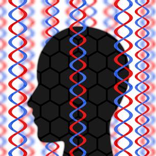 人の遺伝子情報のイラスト素材 [FYI03451222]