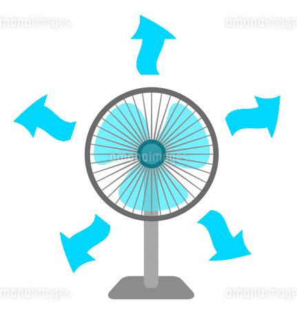 扇風機の風のイラスト素材 [FYI03451226]