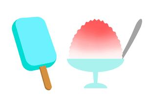 アイスキャンデーとかき氷のイラスト素材 [FYI03451227]