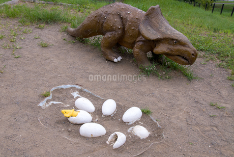 恐竜の母子の写真素材 [FYI03451593]