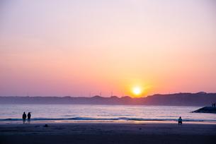 屏風ヶ浦の夕日の写真素材 [FYI03451605]