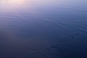海 砂浜 朝焼けの写真素材 [FYI03451852]