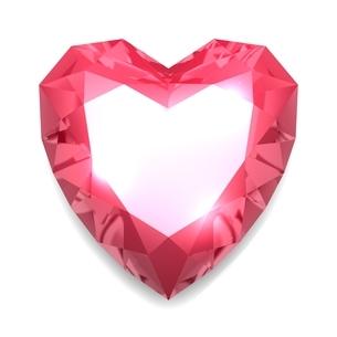 ハート型のダイヤモンドのイラスト素材 [FYI03451977]