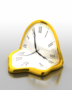 溶けた時計のイラスト素材 [FYI03451978]