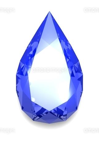 涙型のダイヤモンドのイラスト素材 [FYI03451979]