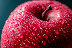Close up view of red appleの写真素材 [FYI03452016]