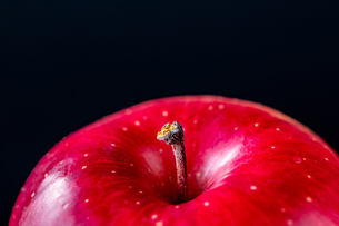 Close up view of red appleの写真素材 [FYI03452022]