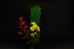 年賀状に使える正月飾り 横の写真素材 [FYI03452329]