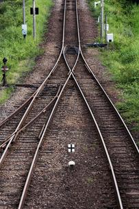 日本の風景、四国牟岐線、線路がつくる風景の写真素材 [FYI03452490]