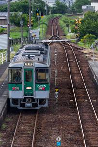 JR四国、日和佐駅の風景の写真素材 [FYI03452501]