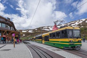 スイス、クライネシャイデック駅の写真素材 [FYI03452572]