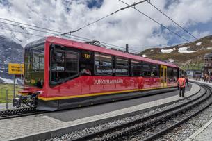 スイス、ユングフラウ鉄道の写真素材 [FYI03452573]
