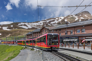 スイス、ユングフラウ鉄道の写真素材 [FYI03452574]