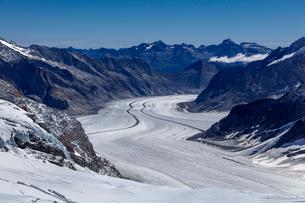 スイス、ユングフラウ、アレッチ氷河の写真素材 [FYI03452735]
