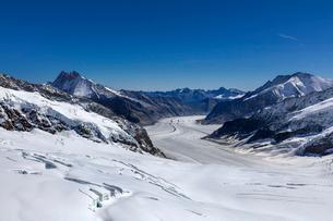 スイス、ユングフラウ、アレッチ氷河の写真素材 [FYI03452736]