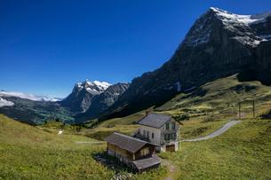 スイス、クライネシャイデックから見たアイガー北壁の写真素材 [FYI03452745]