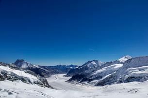 スイス、ユングフラウ、アレッチ氷河の写真素材 [FYI03452748]