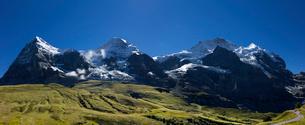 スイス、トップオブヨーロッパ、オーバーラント三山パノラマ風景の写真素材 [FYI03452750]