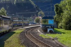 スイス、ベルナーオーバーラント鉄道の写真素材 [FYI03452757]