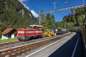 スイス、ベルナーオーバーラント鉄道の写真素材 [FYI03452758]