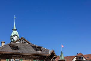 スイス、オーバーラント、ヴェンゲンの風景の写真素材 [FYI03452767]