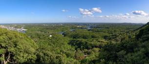 横山展望台から望む英虞湾の風景(パノラマ)(三重県志摩市)の写真素材 [FYI03452856]