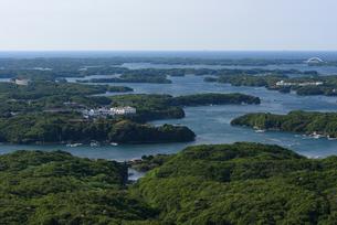 横山展望台から望む英虞湾の風景(三重県志摩市)の写真素材 [FYI03452860]