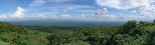 那須高原より望む下界の景色(栃木県那須町)の写真素材 [FYI03452863]