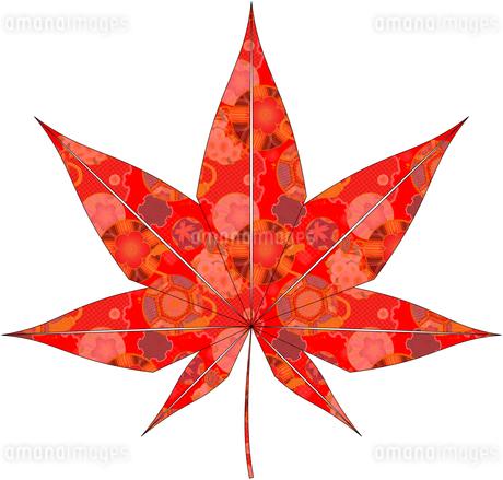 紅葉(折紙風)のイラスト素材 [FYI03452915]