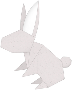 うさぎ(折紙風)のイラスト素材 [FYI03452926]